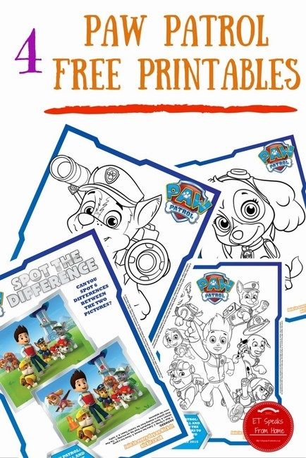 Paw Patrol DVD Printable & Giveaway - ET Speaks From Home