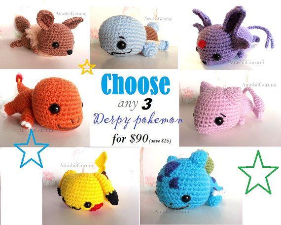 Pokemon Chibi Amigurumi Pattern : 1000+ images about Pokemon Crochet on Pinterest ...