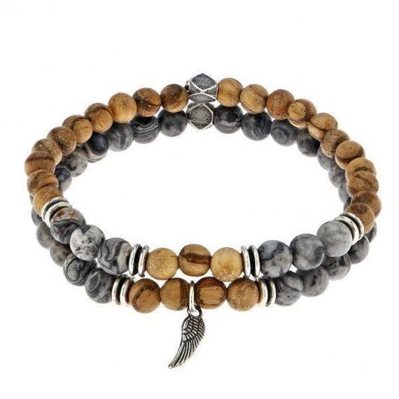la meilleure attitude liquidation à chaud grandes variétés Bracelet ensemble - cadeau d'hommes Bracelet en perles - des ...