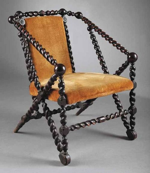 Chairs designed by George Hunzinger, circa late 19th century.