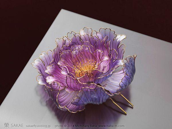 牡丹の影の画像:榮 - sakae - 簪作家