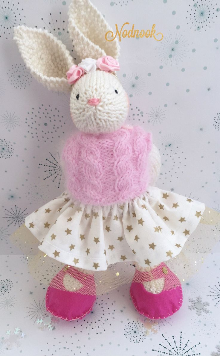 Excited to share the latest addition to my #etsy shop: Knitted rabbit