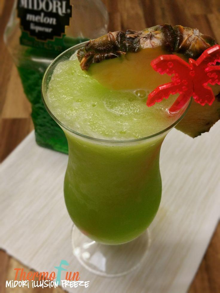 Thirsty Thursday - Midori Illusion Freeze Recipe - ThermoFun | MAKING DECADENT FOOD AT HOME