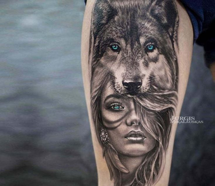 Wild Girl tattoo by Jurgis Mikalauskas