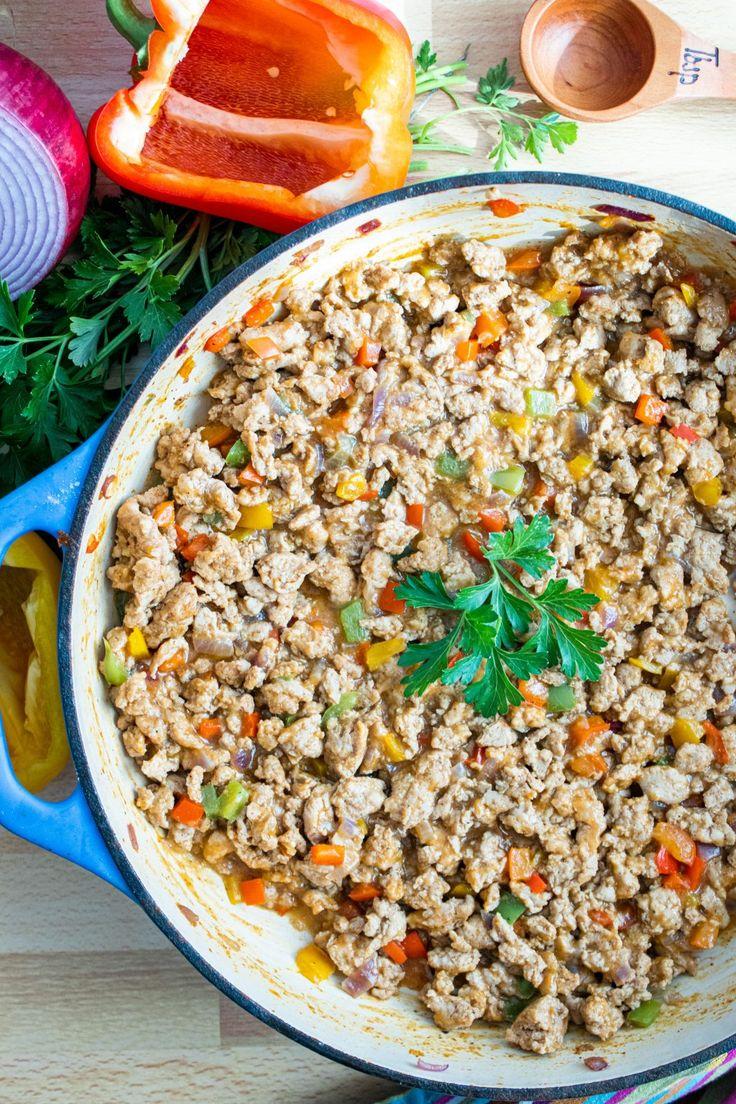 Ground chicken tacos keto paleo dairy free whole30