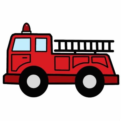 Cartoon Clip Art Firetruck Emergency Vehicle Truck Acrylic Cut Outs