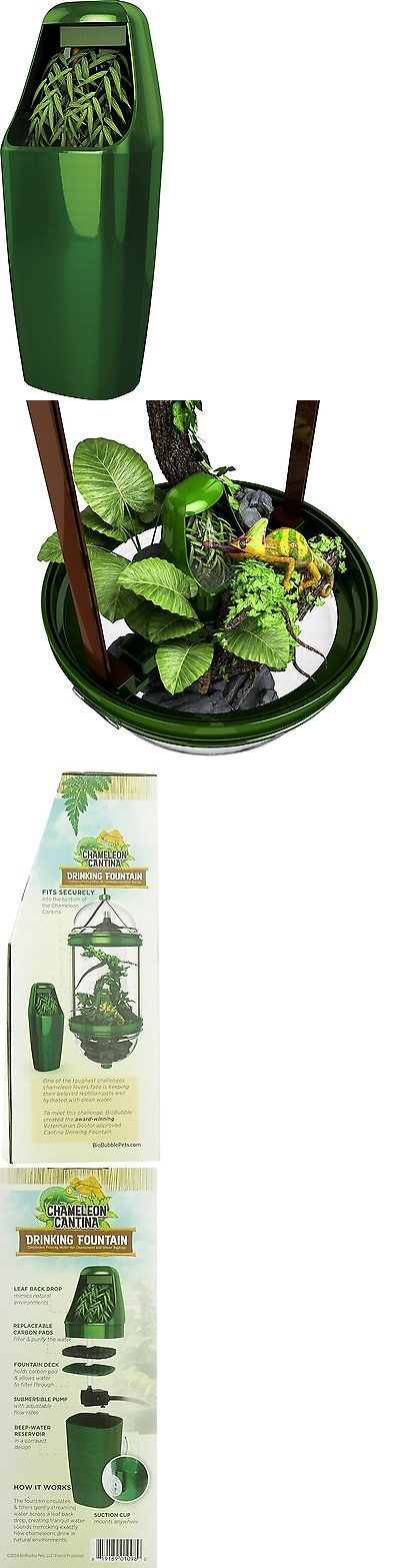 Reptile Supplies 1285: Reptile Drinking Water Fountain. Chameleon Lizard Dispenser Terrarium Habitats BUY IT NOW ONLY: $33.02