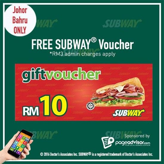 1-14 Feb 2016: Page Advisor FREE RM10 Subway Voucher