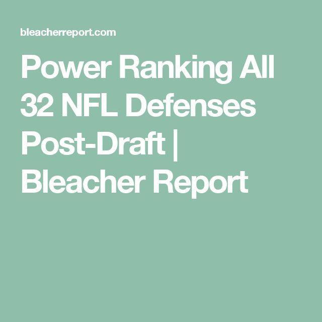 Power Ranking All 32 NFL Defenses Post-Draft | Bleacher Report