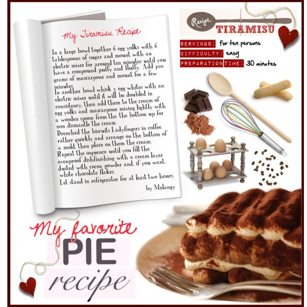 """My Tiramisu Recipe"" by melangy-persempre on Polyvore"