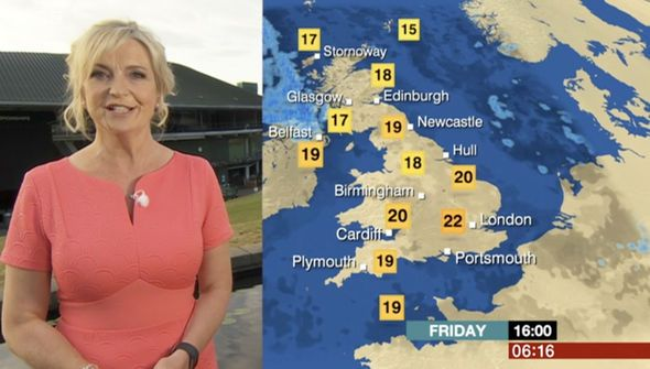 BBC weather: Carol Kirkwood WOWS fans in dazzling coral frock - 'You're so busty' - https://buzznews.co.uk/bbc-weather-carol-kirkwood-wows-fans-in-dazzling-coral-frock-youre-so-busty -
