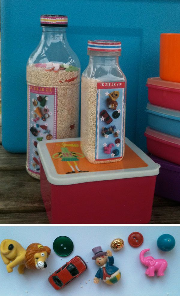 DIY I-spy bottle-love the card glued to the actual bottle: