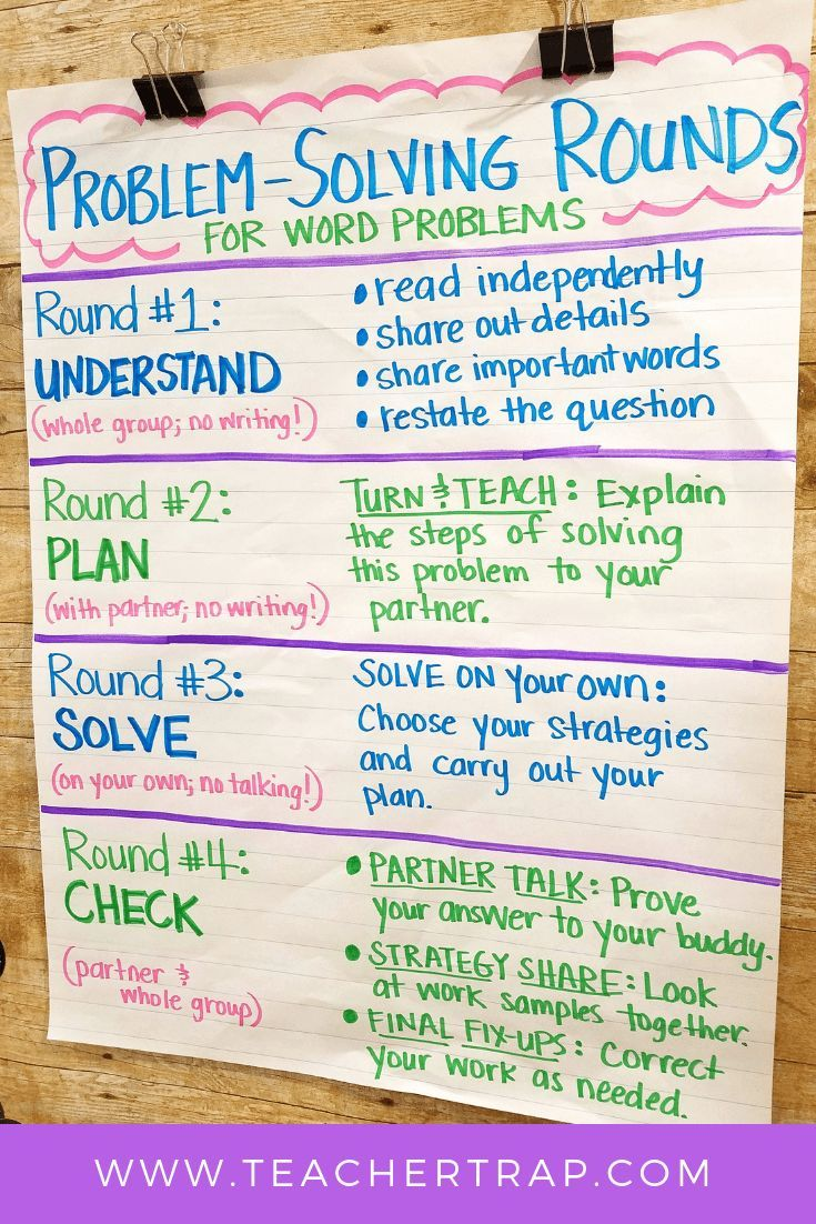 Problem Solving Rounds For Math Word Problems Math Words Math