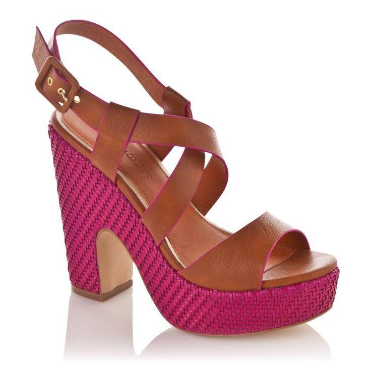 Sandalen met gevlochten platformzool