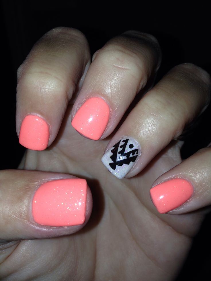 Best 25 Neon Coral Nails Ideas On Pinterest Coral Nails