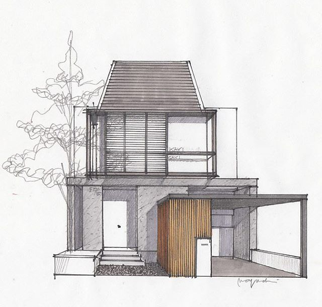 12 best buildings images on pinterest buildings city for Small house facade design