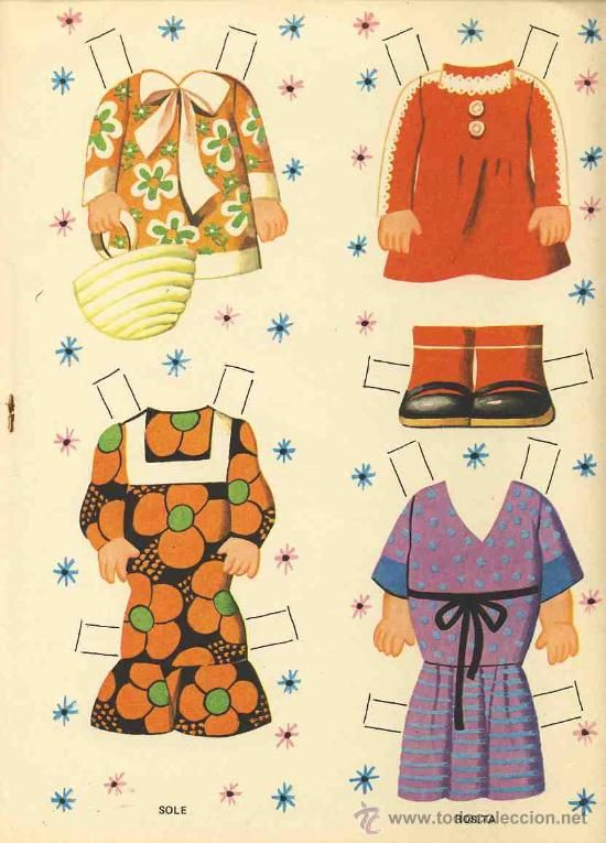 Recortable de muñecas: SOLE Y ROSITA (Ed.Bruguera, Col.2 amigas, num.2) (ver fotos adicionales)