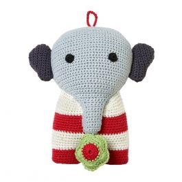 Ich bin eine Elefantenspieluhr :-) ...natürlich aus Bio-Baumwolle! #Spieluhr #Baby #LaLeLu
