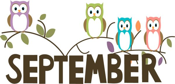 Calendar Word Art : Free month clip art september owls image the