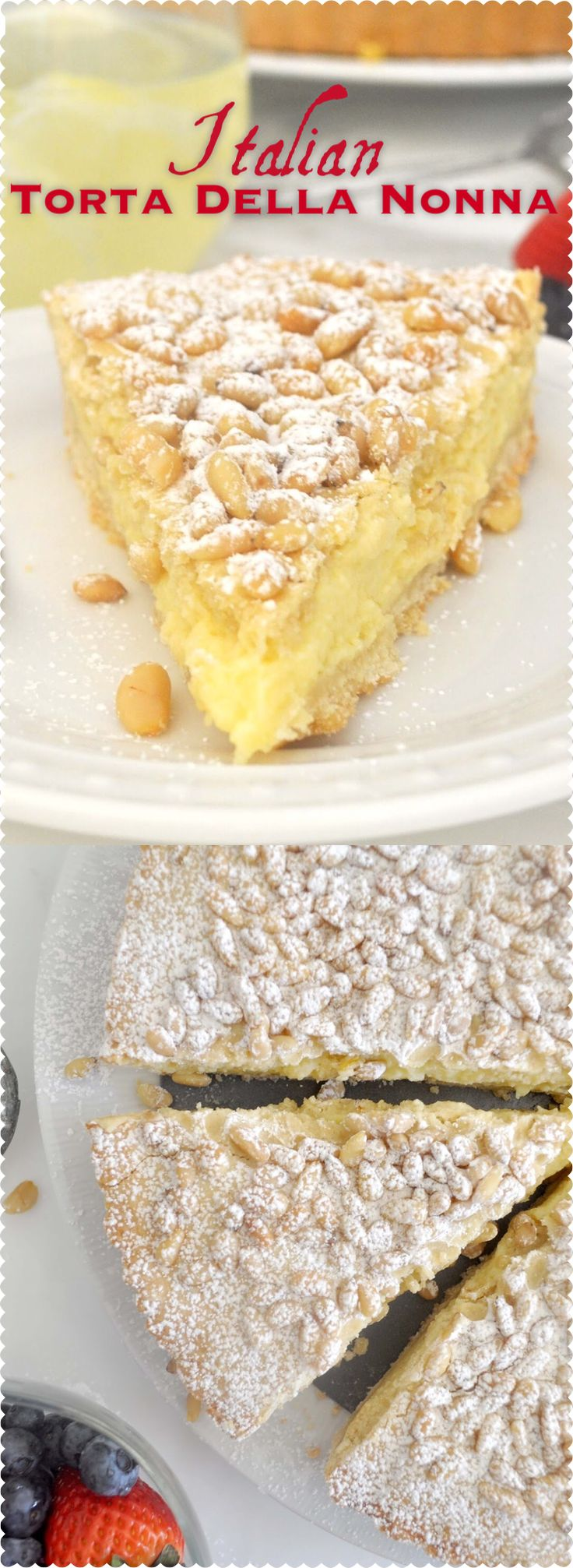 Make your day sweetly amazing with this crumbly and soft pastry filled with rich and delicate custard cream, and topped with tasty pine nuts