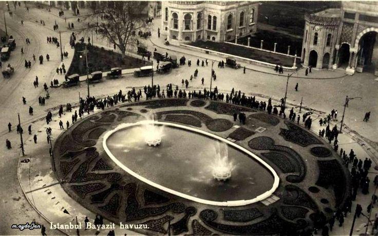 """İstanbul Beyazıt, 1928 """"Haydar Bey Havuzu"""""""