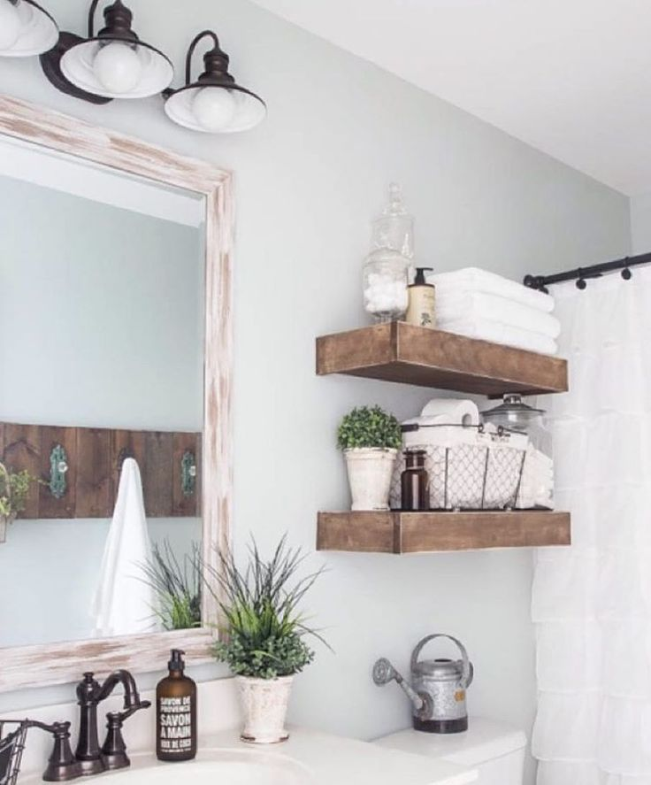 """""""Simple farmhouse perfection. @blesserhouse nailed it! Love that this is such a doable space for a DIY. she has a home full of bargain beauty! Check her…"""""""