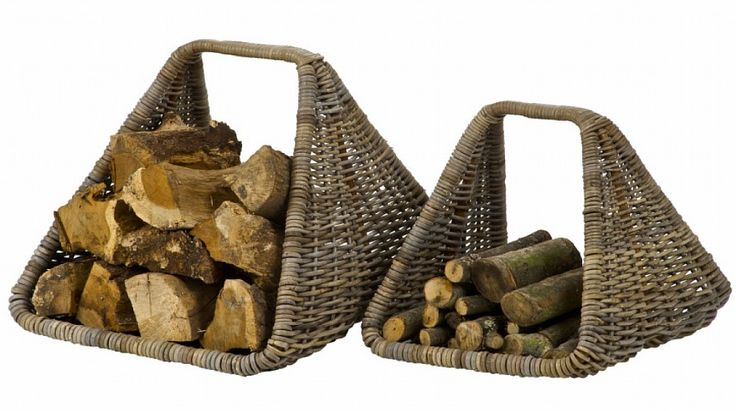 Rattan Log Carry Basket - Nothing says Christmas like a roaring fire and no fireplace is complete without log baskets. These unusual log baskets have lovely a rustic look and are super practical.