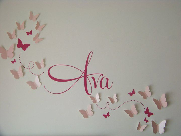 Baby Girl Wall Art Ideas Pin by Jena on Babies | Butterfly nursery, Butterfly bedroom, Baby bedroom