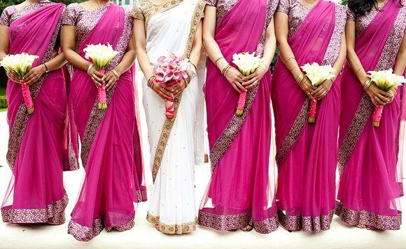 Bollywood Theme Wedding Bride & Bridesmaids #bollywoodwedding #indianwedding
