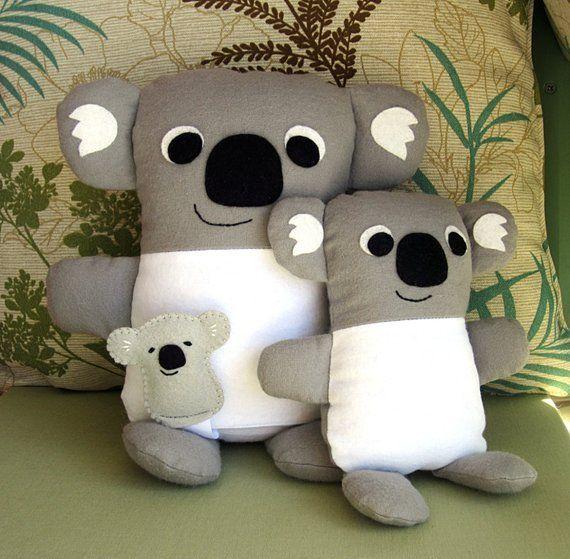 Kandy Koala Family Stuffed Animal Pdf Sewing Pattern Mommy