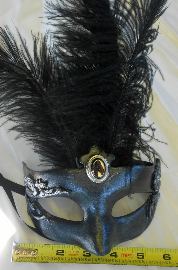 Pewter style Masquerade Venetian Mask by MaLadyMasks on Etsy, $32.00
