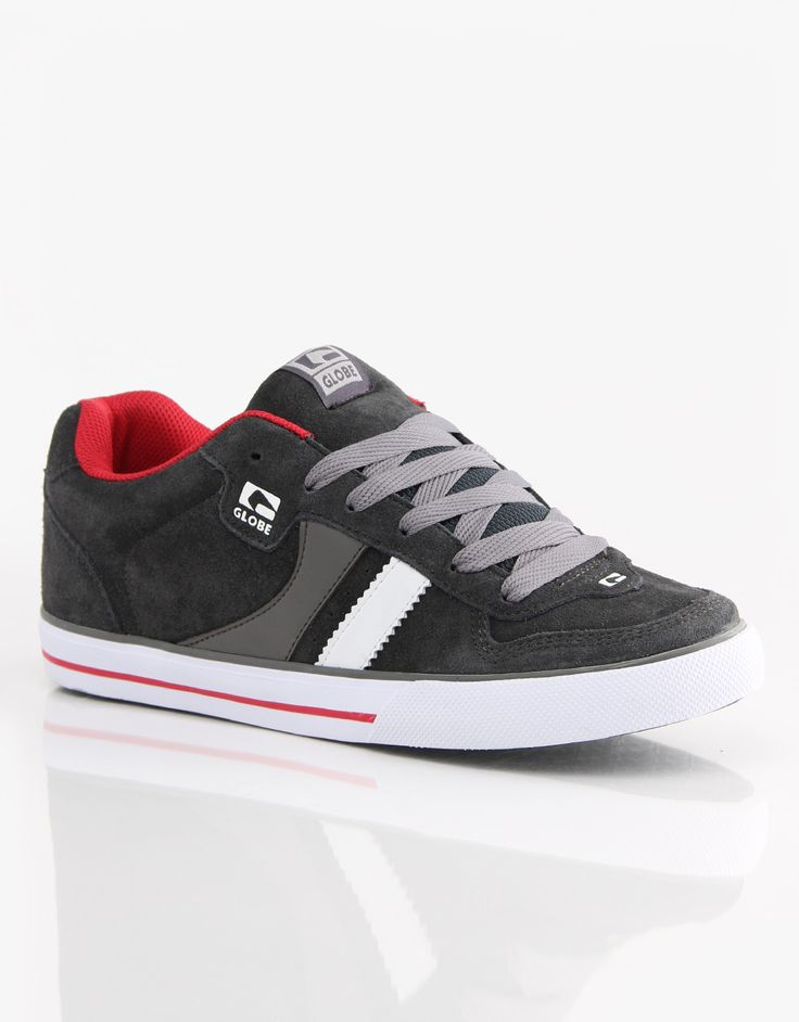 Globe Encore 2 Skate Shoes - Vintage Black/Red