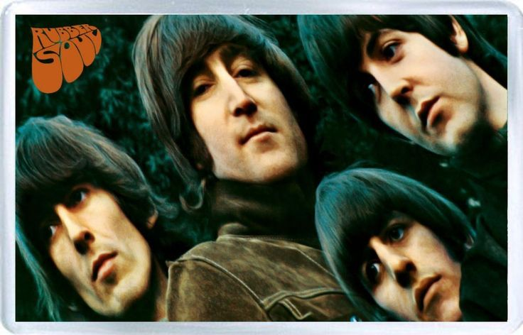 The Beatles (Rubber Soul) - Plastic Fridge Magnet