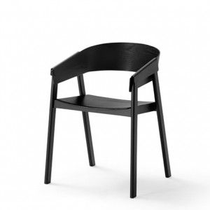Cover chair with folded plywood armrests  by Thomas Bentzen for Muuto