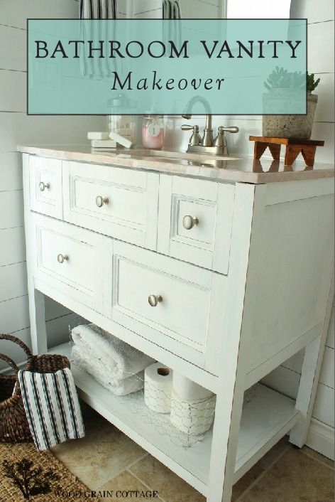 17 ideas about bathroom vanity makeover on pinterest bathroom vanities painted bathroom - Bathroom makeover practical refreshing ideas ...