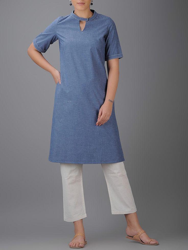 Buy Blue Cotton Kurta Women Kurtas Online at Jaypore.com