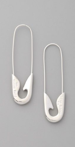 TOM BINNS    Safety Pin Earrings-Silver @Laurie Sipocz!    $121.00