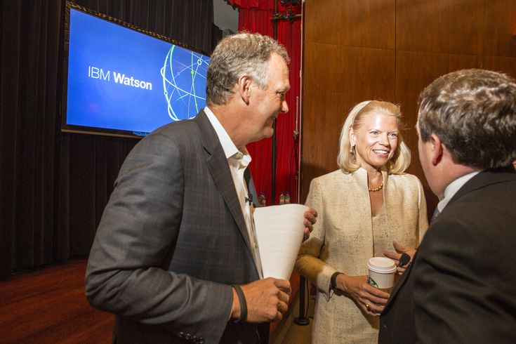 IBM CEO Ginni Rometty at the IBM event Watson in the Age of Discovery at the Museum of Design in NYC August 29 2014.