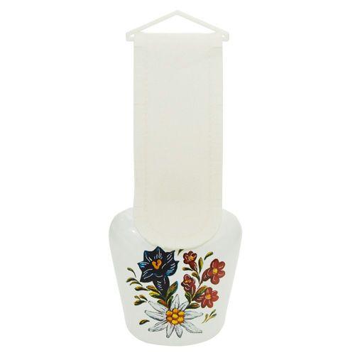 Glocke Alpenblumen. Erhältlich in vier verschiedenen Größen. #glocke #schelle #dekoglocke #kuhglocke
