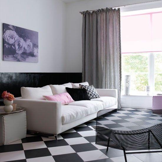 Moderne karierten Wohnzimmer Wohnideen Living Ideas Interiors Decoration
