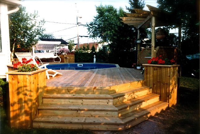 above ground pool deck designs | 2007/2014Patio Plus inc. All Rights reserved