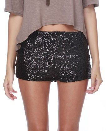 lulus black sequin shorts