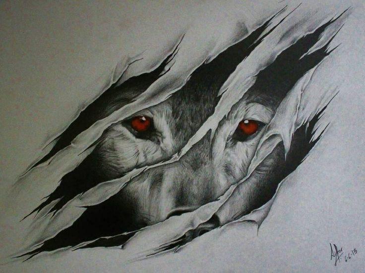 wolf drawing - Pesquisa Google