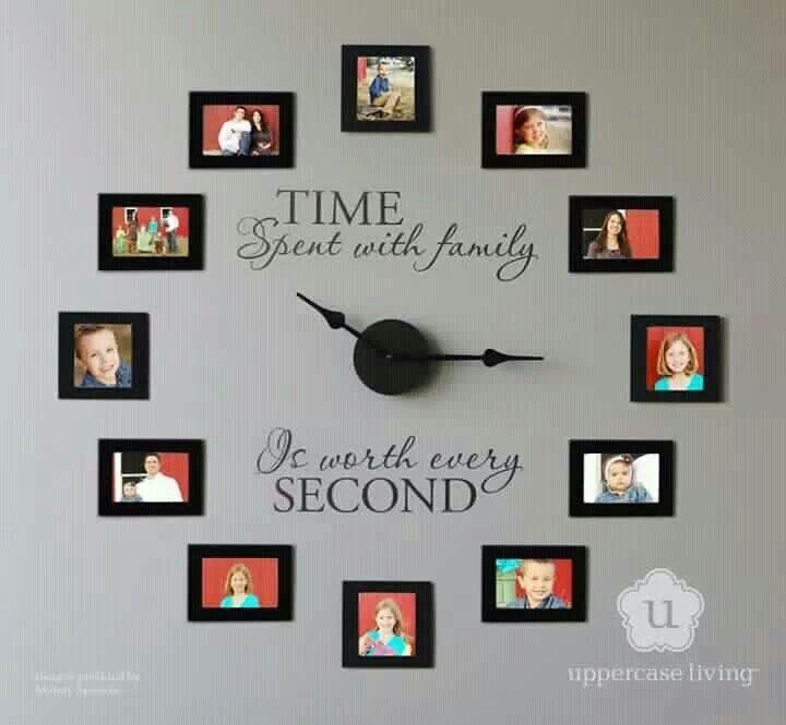 Wall Decoration Ideas Pinterest: Wall Decor Picture Clock - DIY