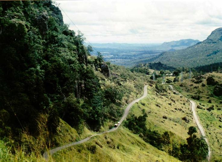 Road to Variarata National Park near Port Moresby, Papua New Guinea