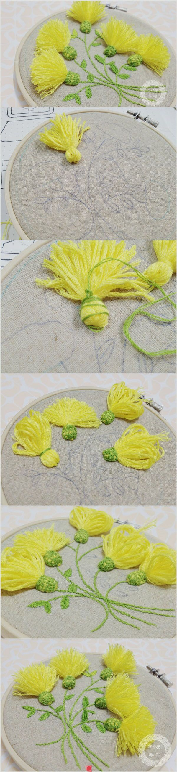 flower embroidery !   Gardening Man