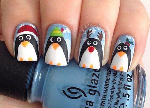 15 Christmas Penguin Nail Art Designs, Ideas & Stickers 2015 ...
