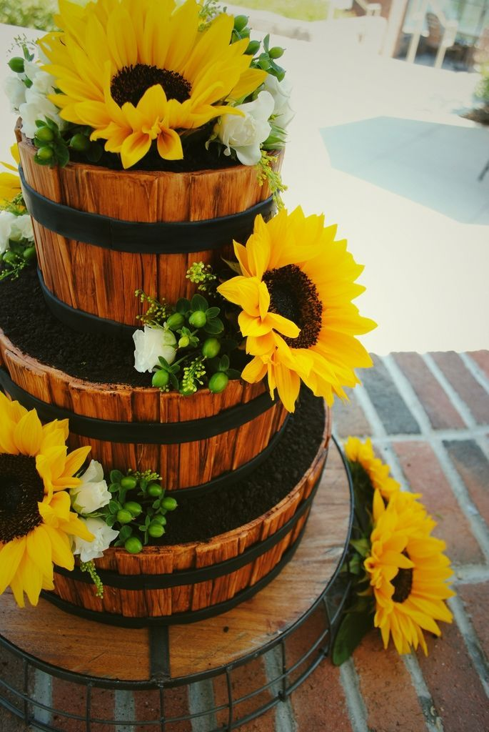 Rustic Country Wedding Cakes   Rustic Country Wedding Cake Wooden Barrels ...   Wedding :)