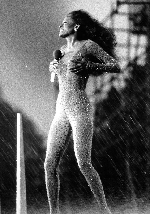 Diana Ross I can remember watching this concert on television and being really impressed with her performance considering the rain.