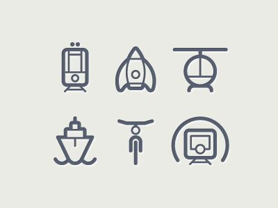 Alacarta logo /// want a symbol that can look good without words  /// Dribbble - Transportation icons by Tom Nulens